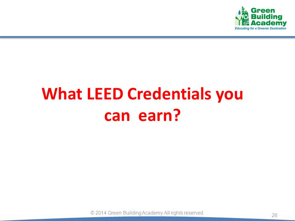 What LEED Credentials you can earn