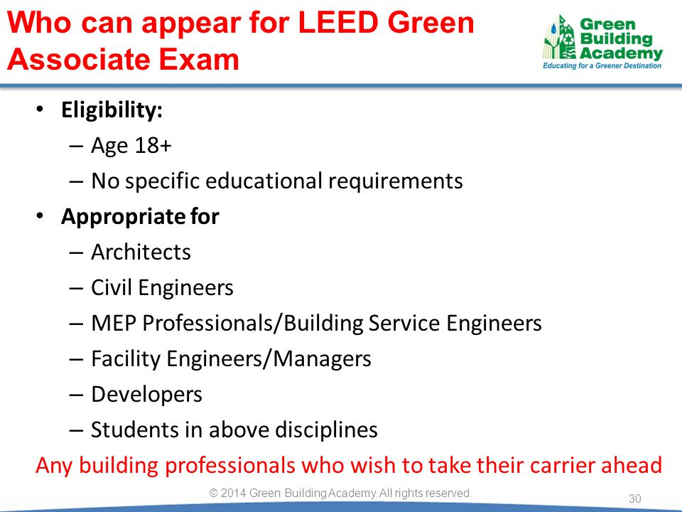 © 2014 Green Building Academy. All rights reserved.