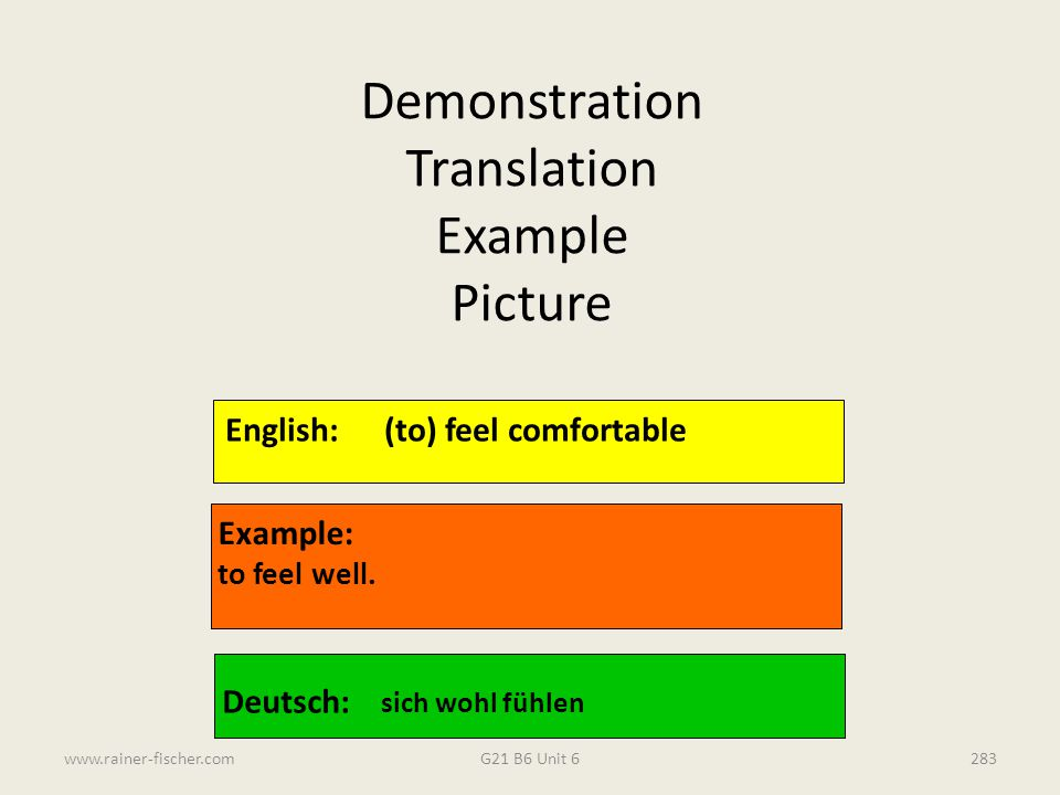 Demonstration Translation Example Picture
