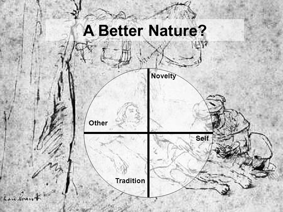 A Better Nature Novelty Other Self Tradition