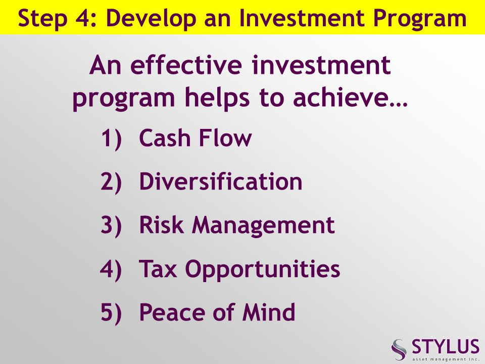 An effective investment program helps to achieve…