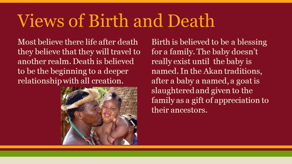 Views of Birth and Death