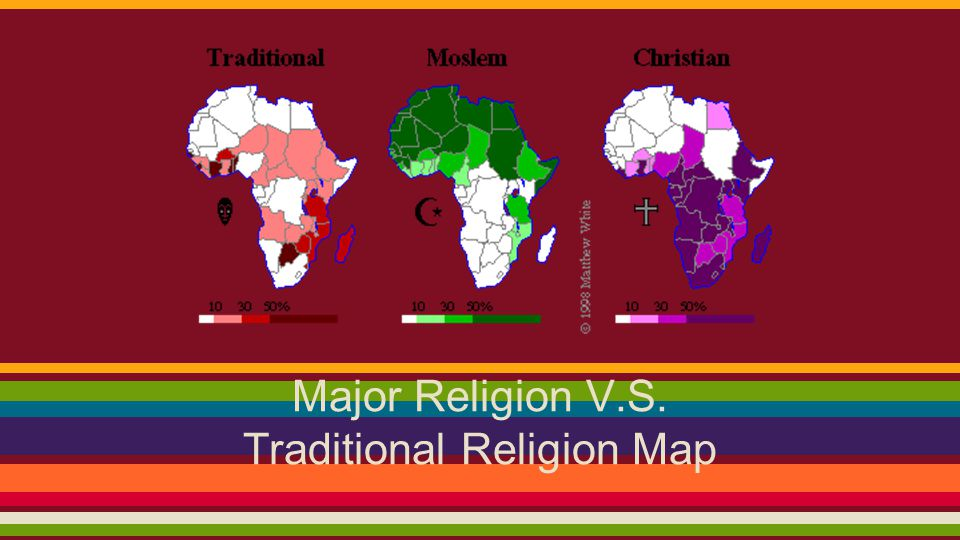 Traditional Religion Map