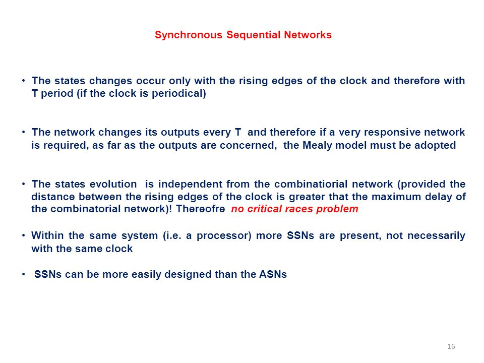 Synchronous Sequential Networks