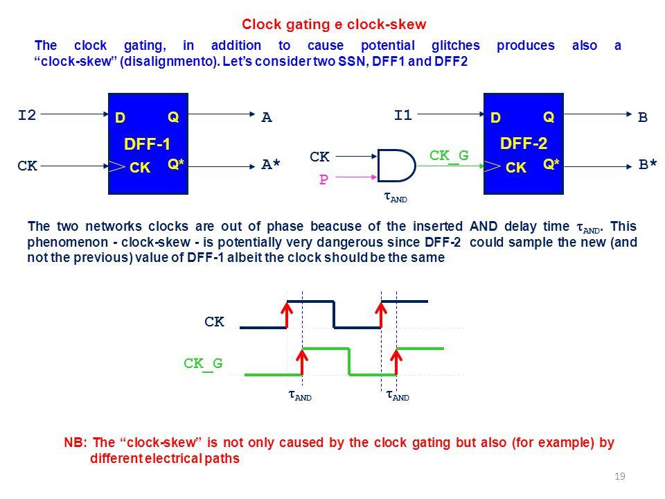 Clock gating e clock-skew
