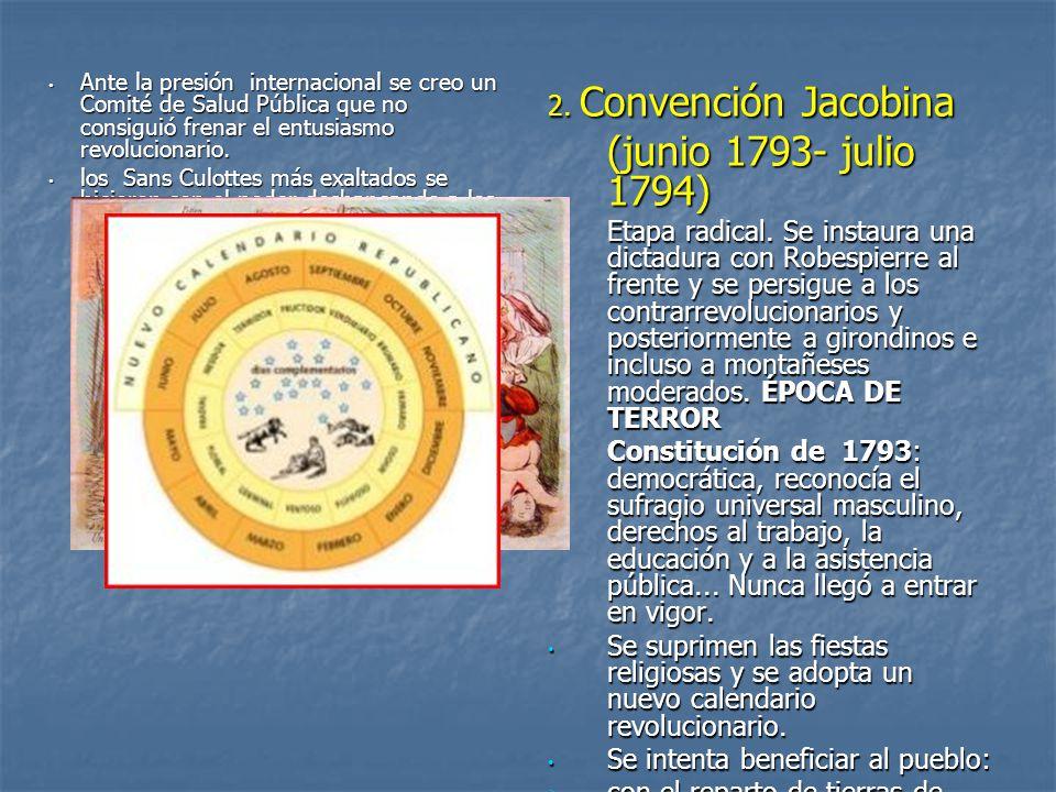 (junio 1793- julio 1794) 2. Convención Jacobina