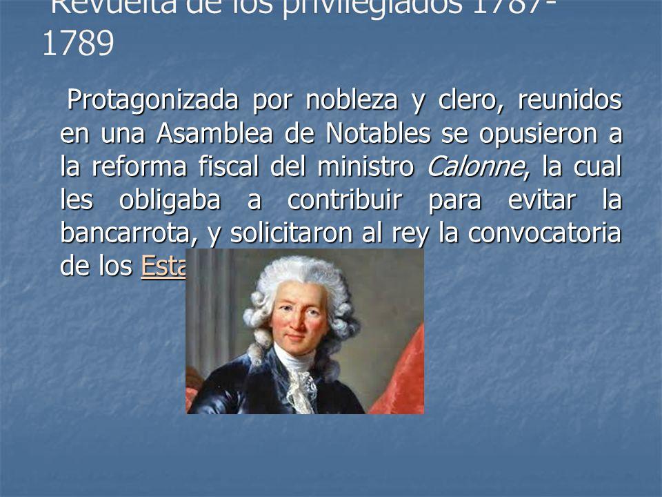 Revuelta de los privilegiados 1787-1789
