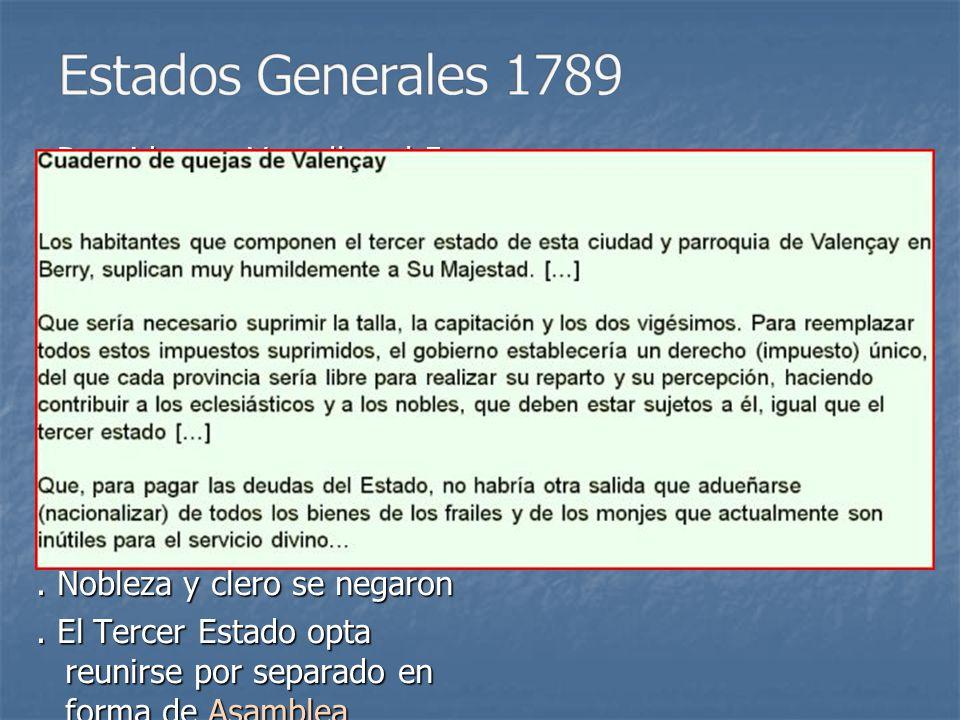 Estados Generales 1789