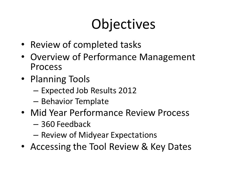 Mid year performance review process ppt video online for Mid year review template