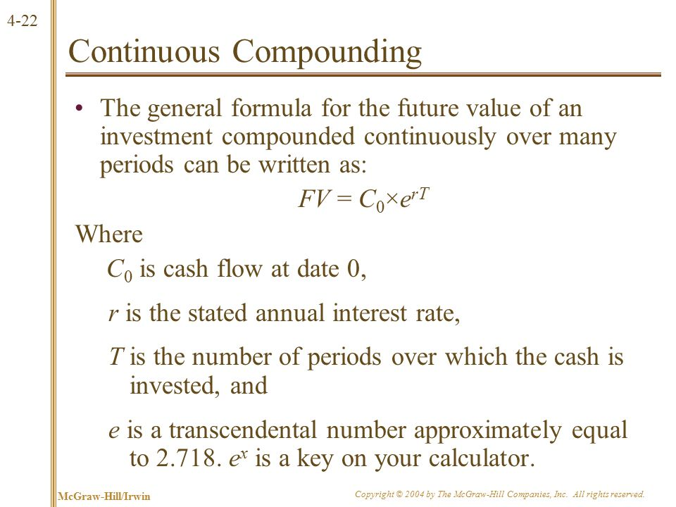 4.4 Simplifications Perpetuity Growing perpetuity Annuity