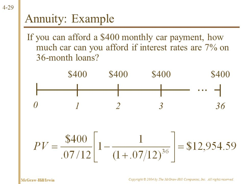 More on Annuities
