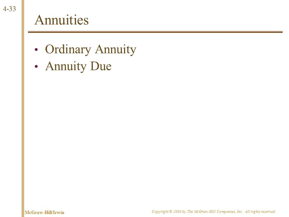 Growing Annuity A growing stream of cash flows with a fixed maturity.