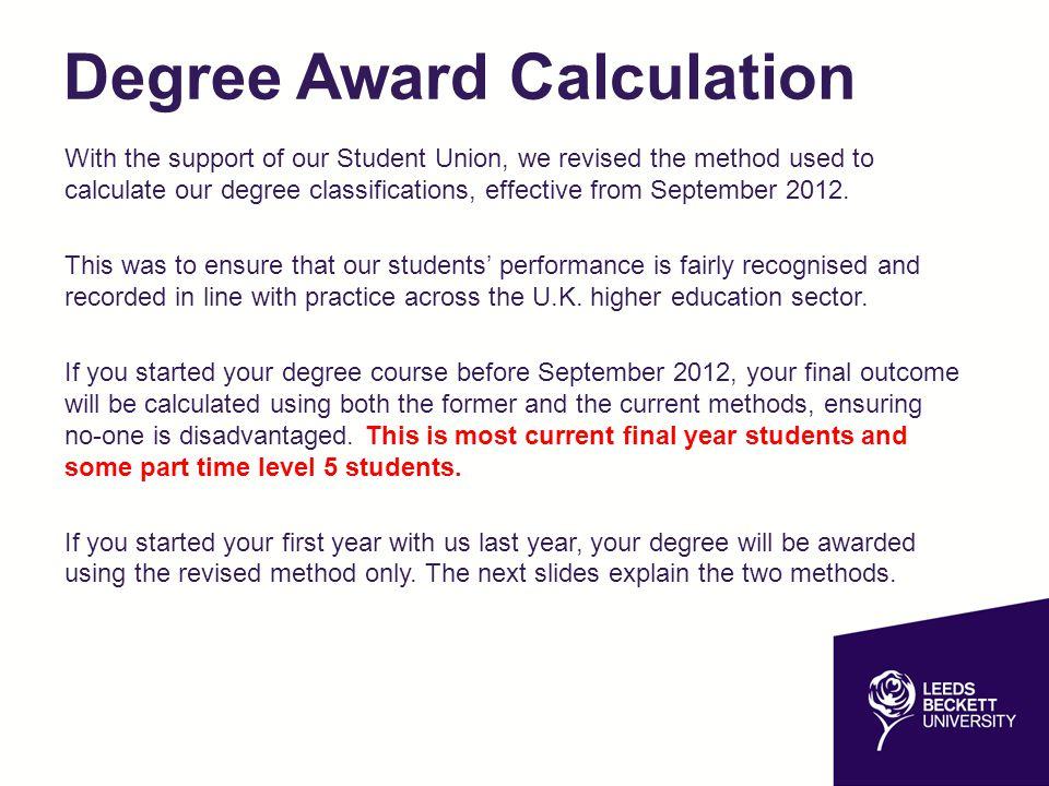 Degree Award Calculation