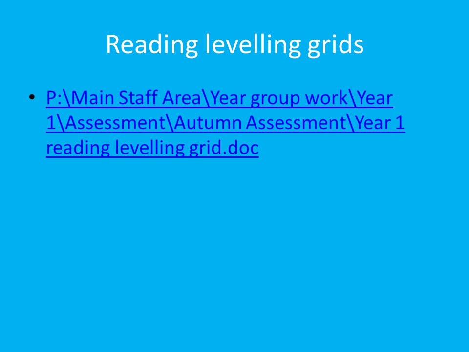 Reading levelling grids