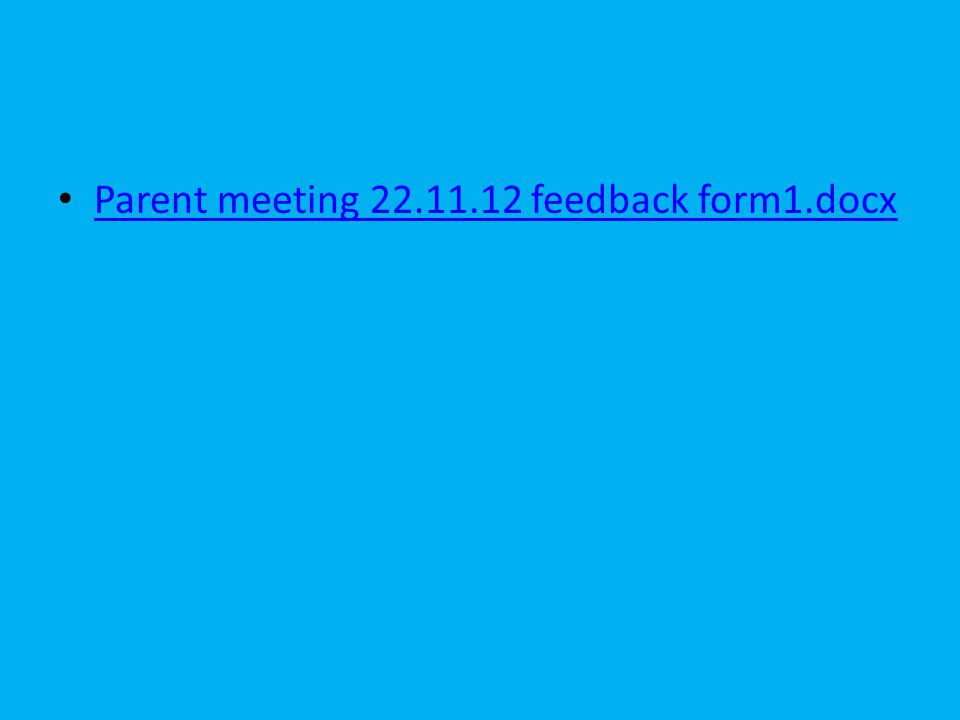 Parent meeting feedback form1.docx