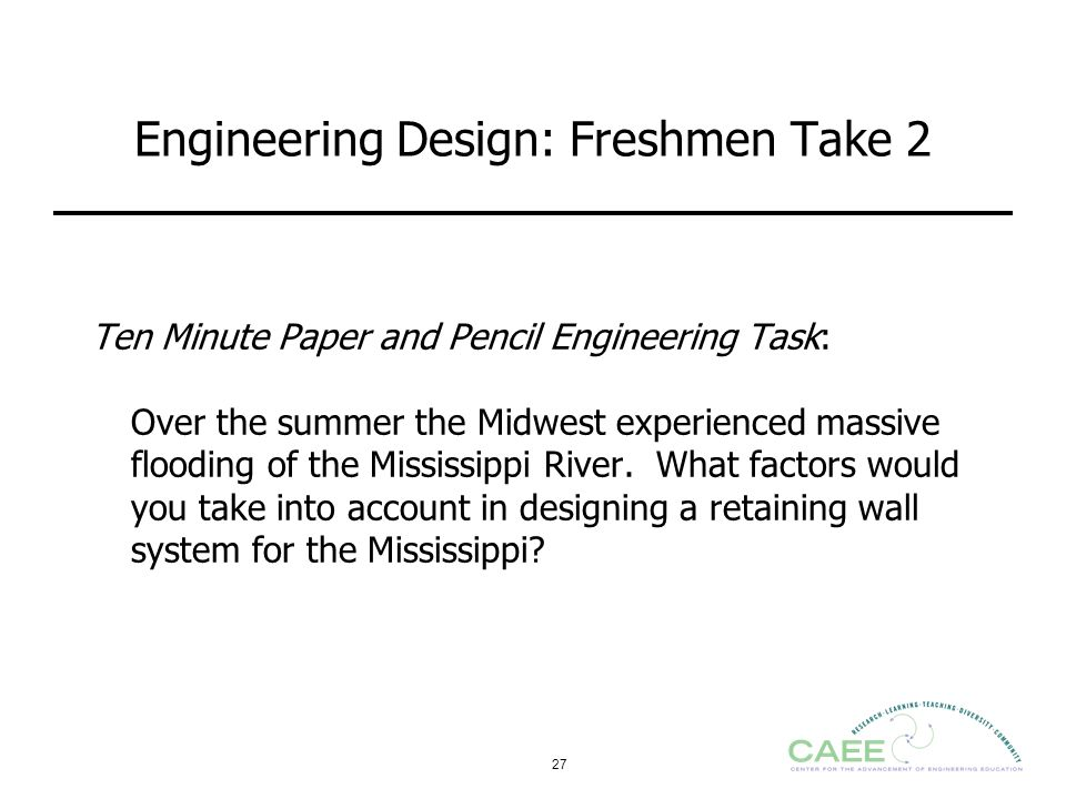 Engineering Design: Freshmen Take 2