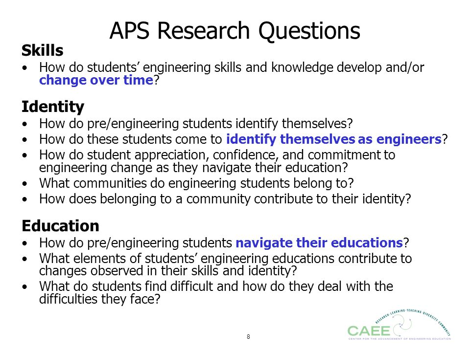 APS Research Questions