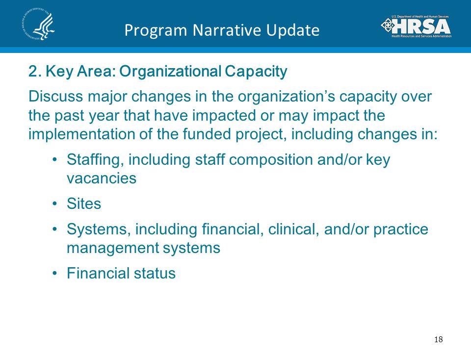 Program Narrative Update