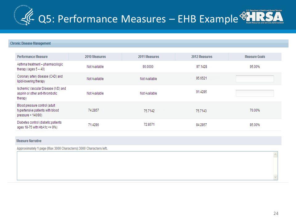 Q5: Performance Measures – EHB Example