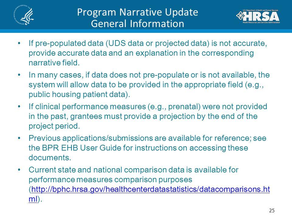 Program Narrative Update General Information