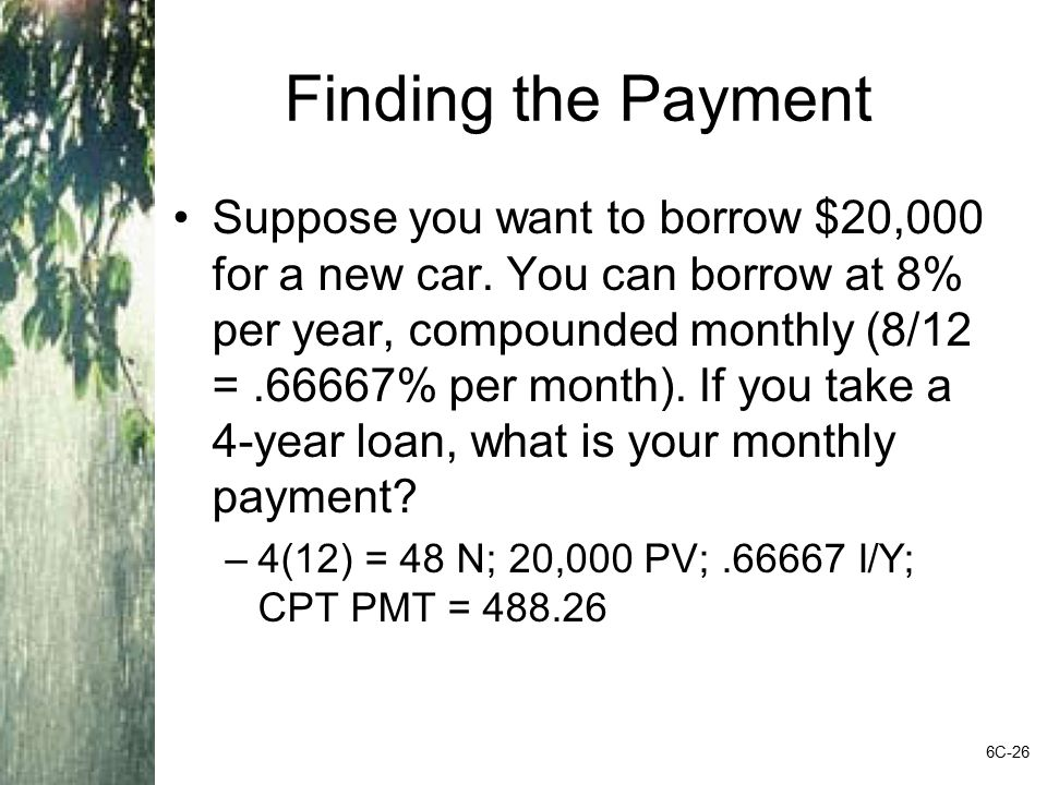 Finding the Payment