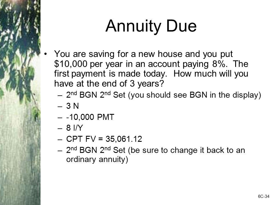Annuity Due