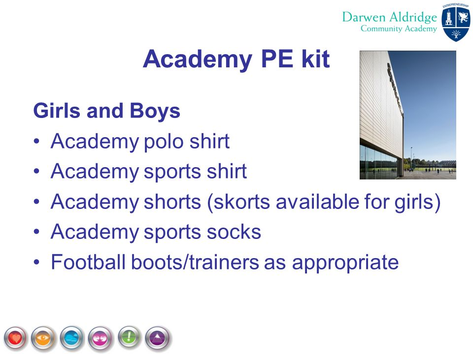 Academy PE kit Girls and Boys Academy polo shirt Academy sports shirt