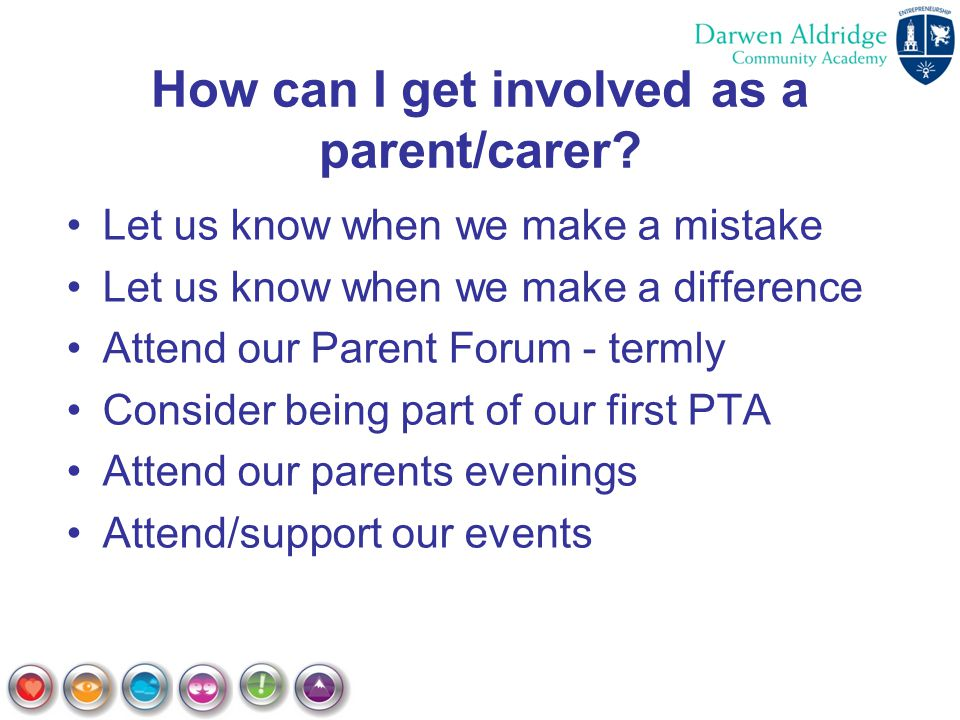 How can I get involved as a parent/carer