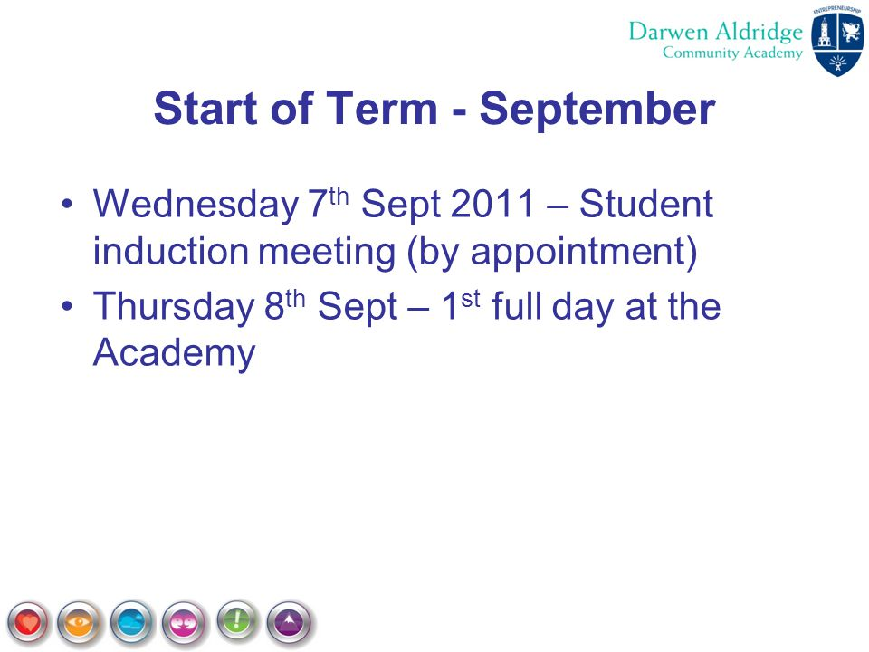 Start of Term - September