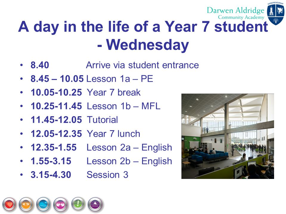 A day in the life of a Year 7 student - Wednesday
