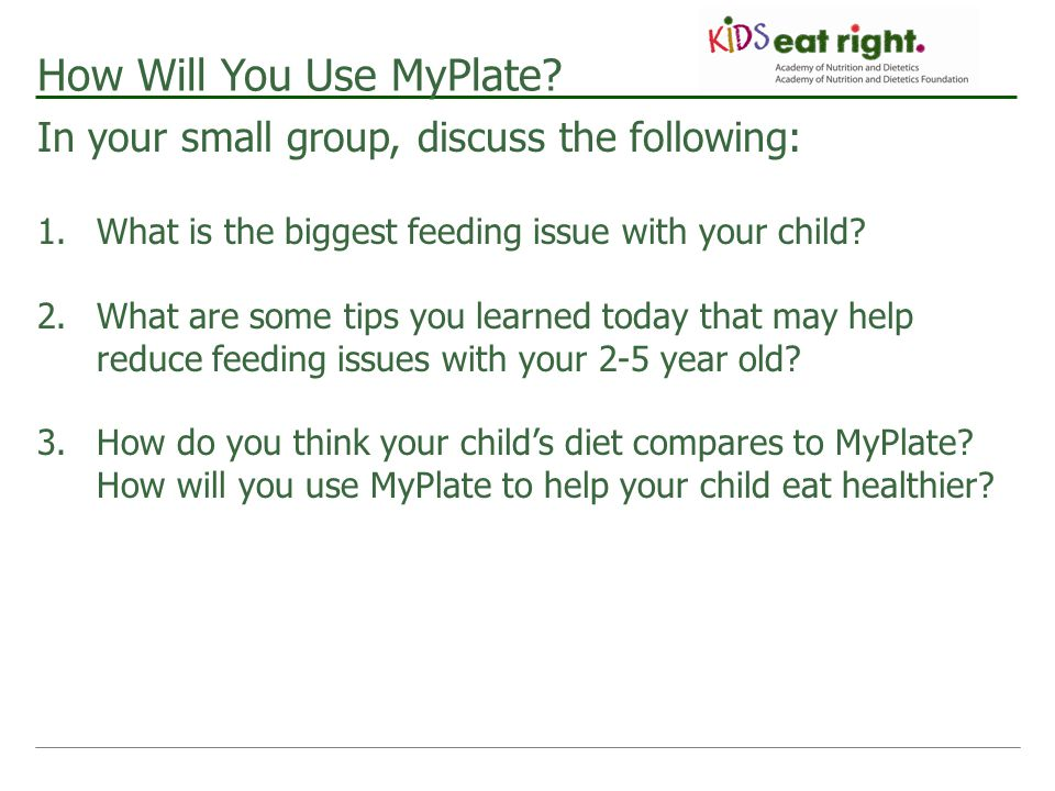 How Will You Use MyPlate