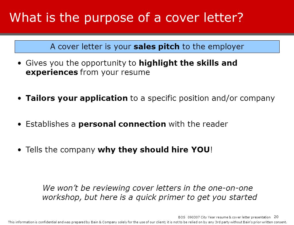 purpose cover letter resume