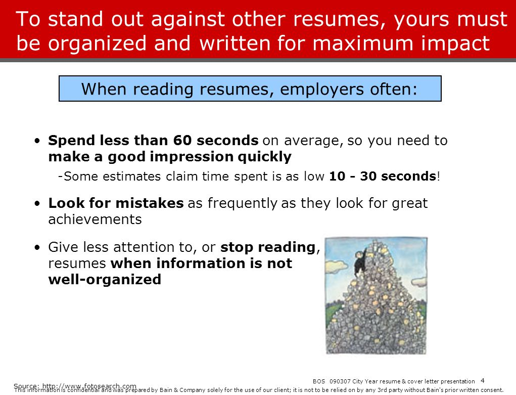 When reading resumes, employers often: