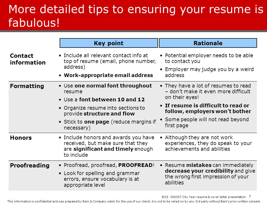 More detailed tips to ensuring your resume is fabulous!