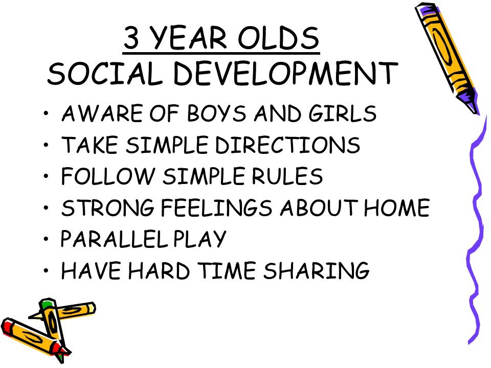 3 YEAR OLDS SOCIAL DEVELOPMENT