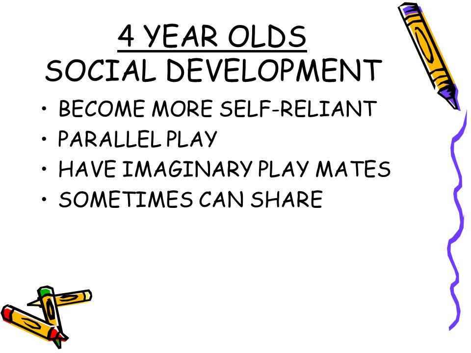 4 YEAR OLDS SOCIAL DEVELOPMENT