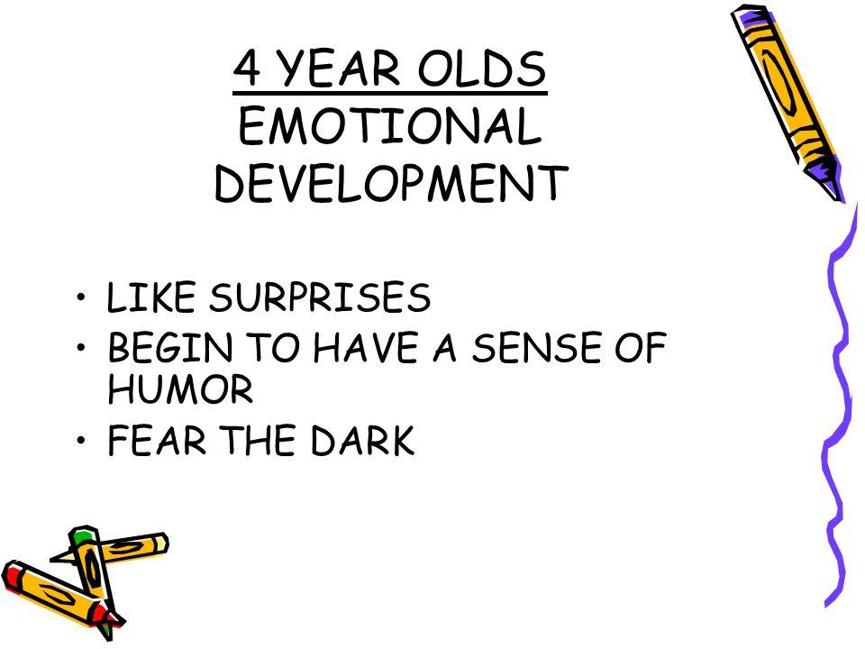 4 YEAR OLDS EMOTIONAL DEVELOPMENT