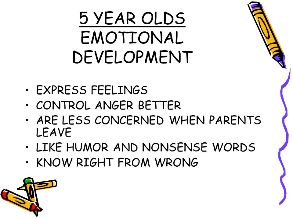 5 YEAR OLDS EMOTIONAL DEVELOPMENT
