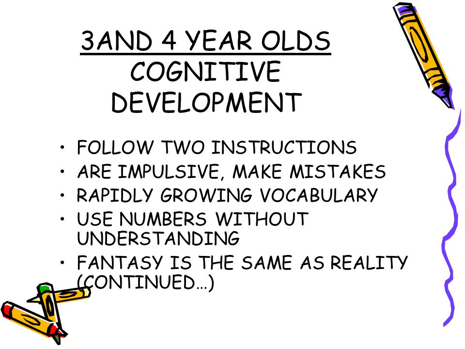 3AND 4 YEAR OLDS COGNITIVE DEVELOPMENT
