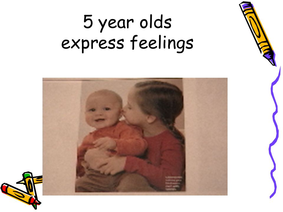 5 year olds express feelings