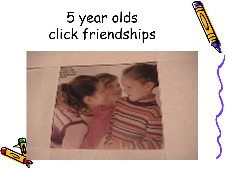 5 year olds click friendships