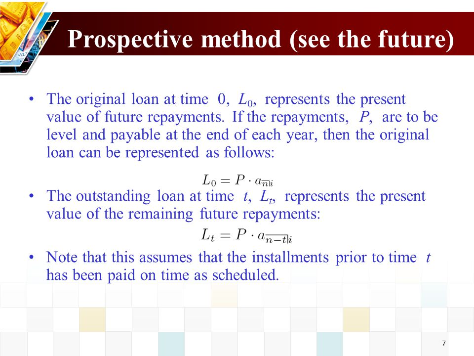Prospective method (see the future)