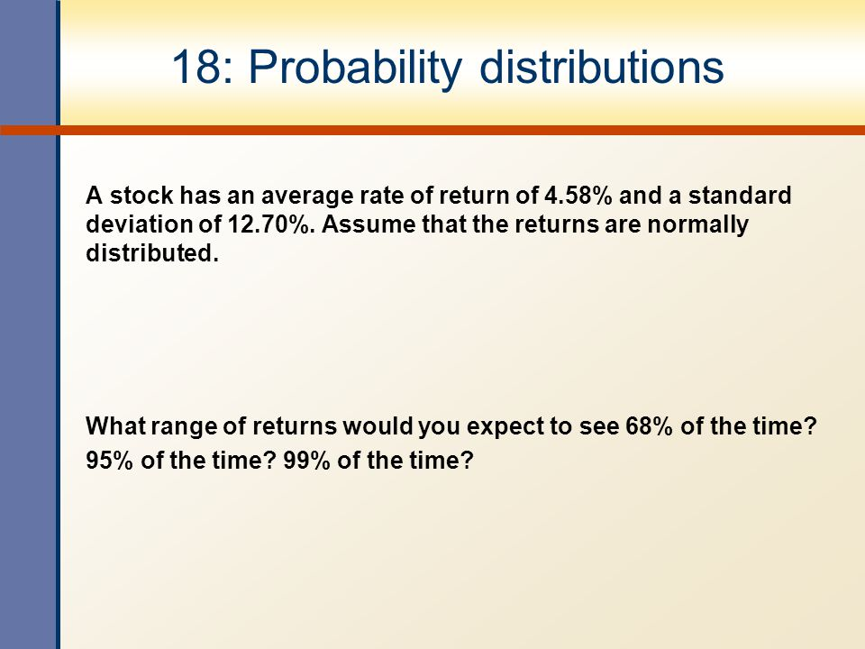 18: Probability distributions