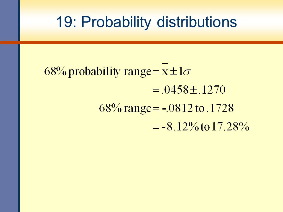 19: Probability distributions