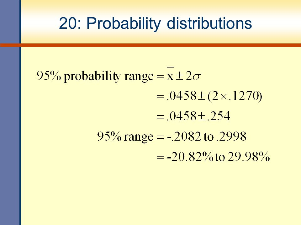 20: Probability distributions