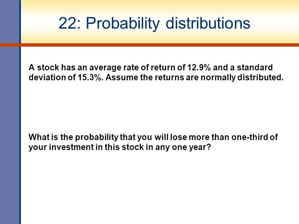 22: Probability distributions
