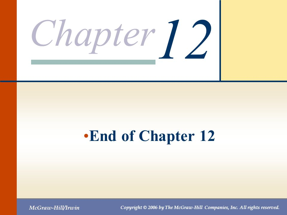 12 End of Chapter 12
