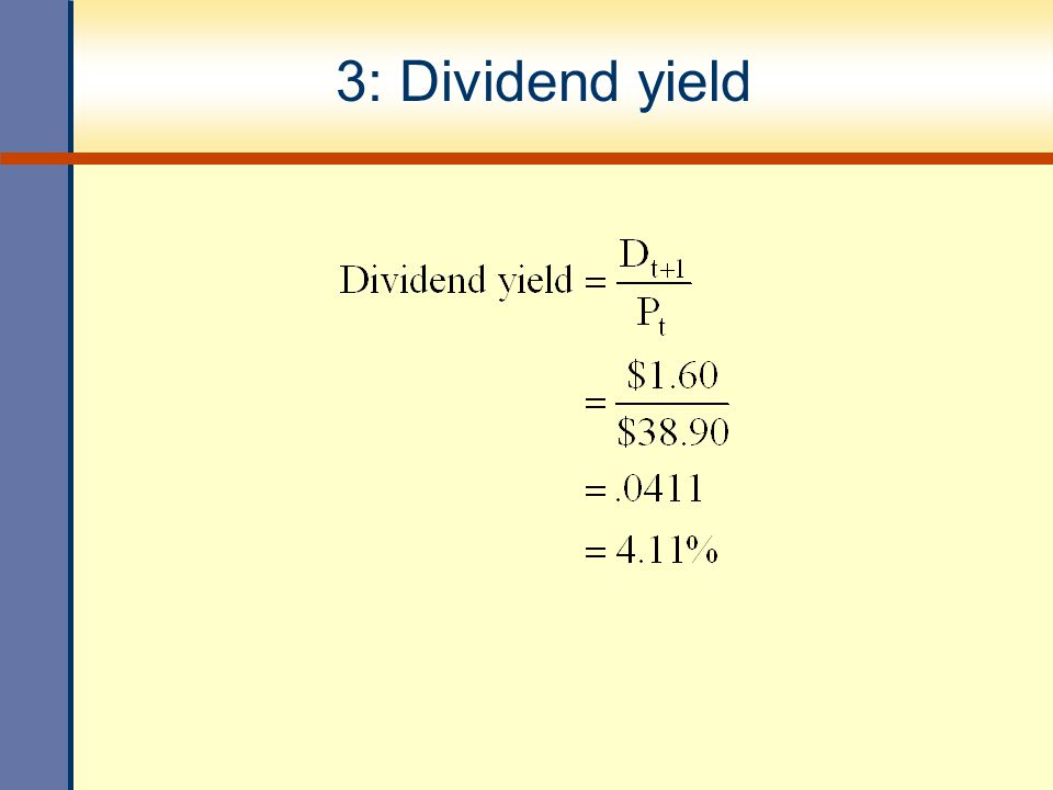 3: Dividend yield