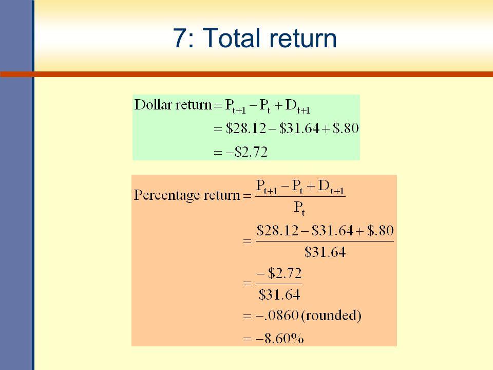 7: Total return