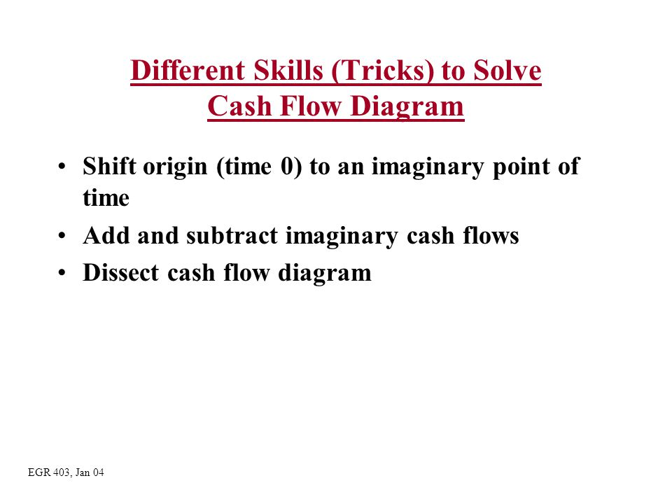 Different Skills (Tricks) to Solve Cash Flow Diagram